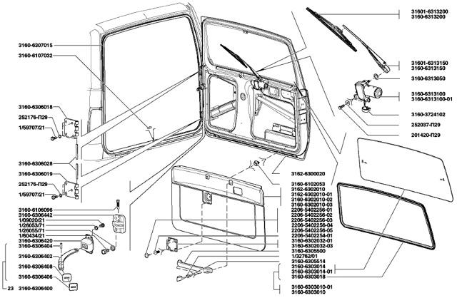 Задняя дверь Патриота: назначение и конструкция, как снять и устранить скрип
