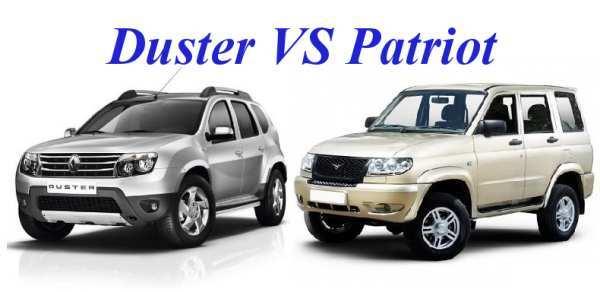 Сравнение УАЗ патриот и Рено Дастер по разным параметрам