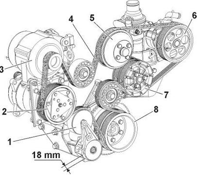 Ремень генератора для УАЗ Патриот на 409 двигатель с кондиционером