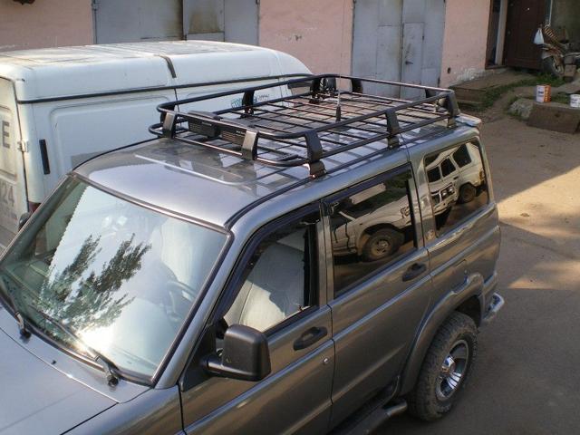 Багажник для УАЗ Патриот: разновидности, крепления своими руками